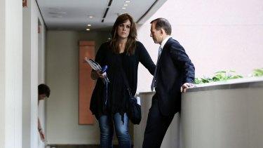 Tony Abbott and his chief-of-staff Peta Credlin in 2013.