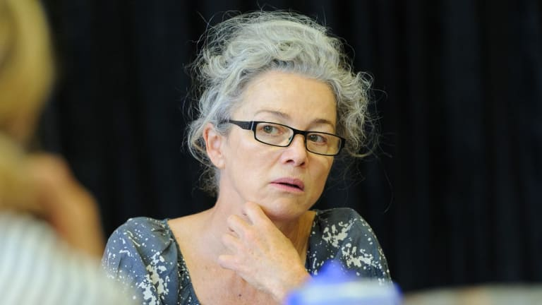 Sarah Peirse during rehearsals for The Children.