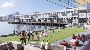A 3D rendering of proposed Walsh Bay redevelopment.