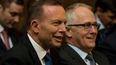 Malcolm Turnbull, right, pictured with Prime Minister Tony Abbott, has declined an invitation to appear on Monday's episode of Q&A.