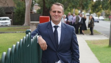 Liberal candidate Tim Wilson has also faced homophobic slurs while out campaigning.