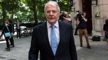 Former British prime minister John Major.