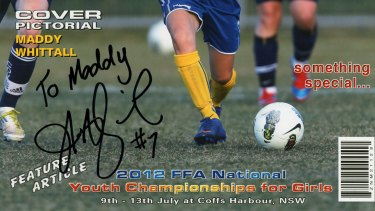 Heather Garriock signs autograph for Maddy Whittall in 2012 and five years later signs her at Canberra United.