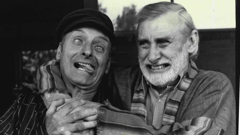 Patrick Milligan with brother Spike, 1980.