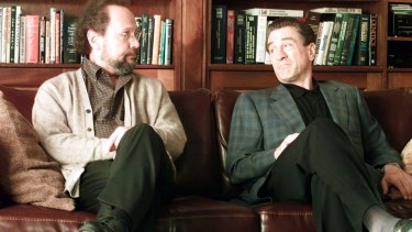 Psychiatrists can read patients like a book; Shrink Billy Crystal (left) and  patient Robert De Niro in Analyze That.