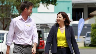 Main Roads Minister Mark Bailey, pictured with Premier Annastacia Palaszczuk, this week led a delegation to Sydney to argue the Turnbull government provide 80 per cent of the funds for the two Pacific Motorway projects.