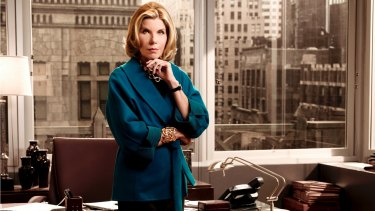 Power dressing: Christine Baranski as Diane Lockhart in The Good Wife.