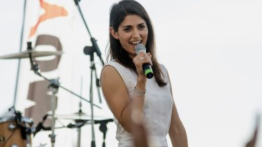 Virginia Raggi, elected as mayor of Rome.
