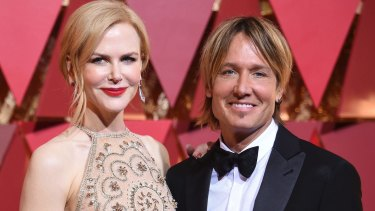 Nicole Kidman and Keith Urban arrive at the Oscars.