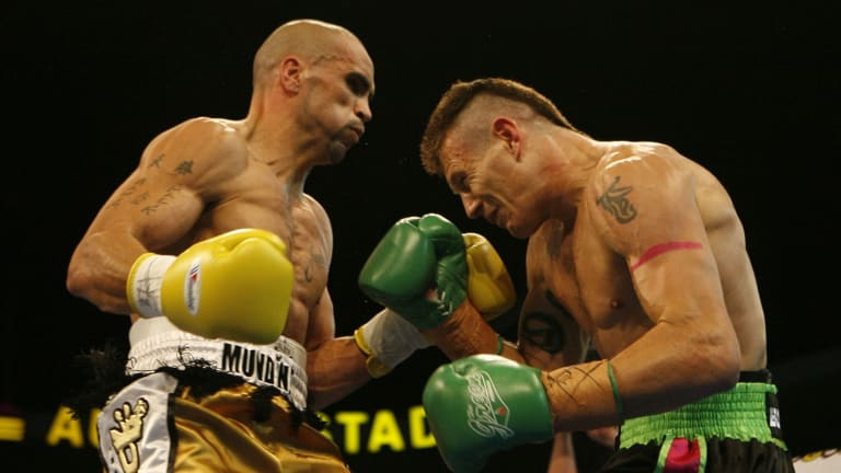 Danny Green v Anthony Mundine in 2006.