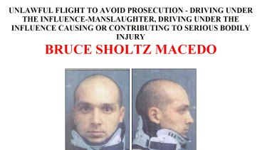 The FBI has been chasing Bruce Sholtz Macedo since 2008 when he fled dual manslaughter charges.