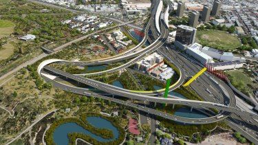 The Napthine government's proposed East West Link interchange through Royal Park that Daniel Andrews railed against in opposition.