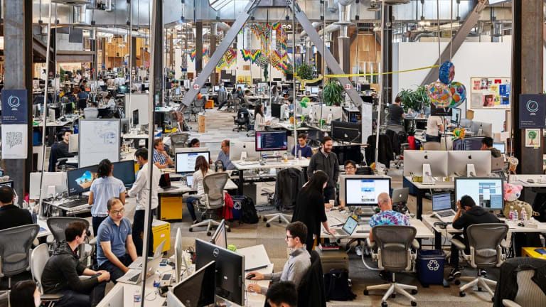 The News Feed team at Facebook headquarters.