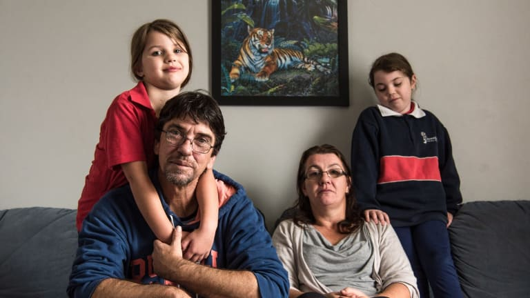 Duncan Storrar wit his family Jakalah-Rose, Indica and wife Cindy-Lee. Duncan appeared on Q&A with a question about tax relief for middle class wage earners and how it was unjust that low income earners didn't receive any tax breaks.