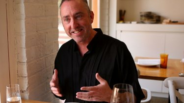 Geelong Gallery Director Jason Smith at lunch at Tulip Bar and Restaurant in Geelong West