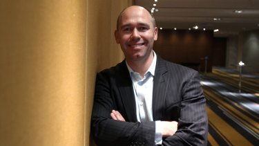 Road showdown: MYOB, headed by Tim Reed, will hit the road at the same time as Xero.