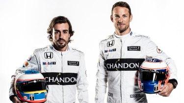 Despite multiple past wins, Button is not confident of a top spot alongside his McLaren-Honda partner Fernando Alonso (left).