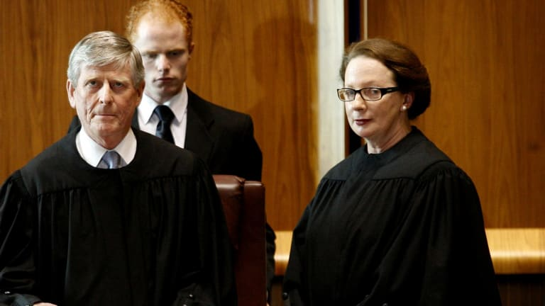 Justice Susan Kiefel at her swearing in to the Australian High Court in 2007.