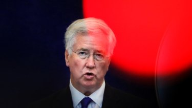 Implicated  in a scandal: Britain's former defense minister Michael Fallon.