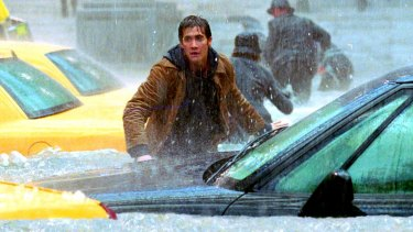 Climate science fiction disaster movie: Jake Gyllenhaal in The Day After Tomorrow.