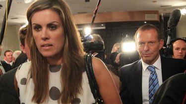 Former prime minister Tony Abbott and his chief of staff Peta Credlin.