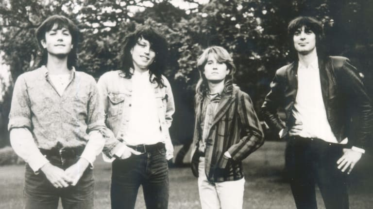 The Church, from left,  Steve Kilbey, Marty Willson-Piper, Richard Ploog and Peter Koppes in 1985.