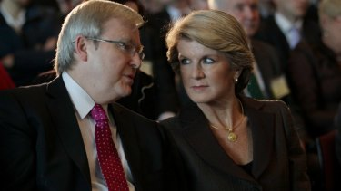 In terms of the size of Australia's aid budget, Julie Bishop has compared poorly to other foreign ministers, including Kevin Rudd.