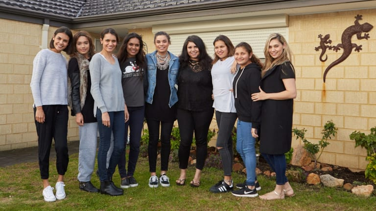 <i>Family Rules</I>' sisters: Shenika (left, 27), Aleisha (17), Helen (26), Angela (29), Kiara (22), Sharna (20), Jessica (14), Hannah (12) and Kelly (23).