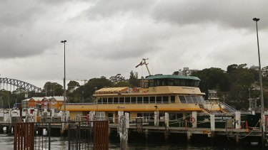 The Catherine Hamlin berthed at the Balmain shipyard late last week.