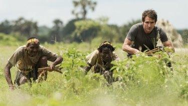 Going native: Todd Sampson hunting with the Hazda tribe in Tanzania.