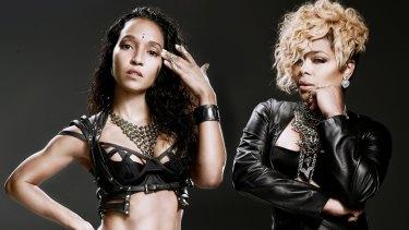 "TLC still crazysexycool – Rozonda ""Chilli"" Thomas and Tionne ""T-Boz"" Watkins."