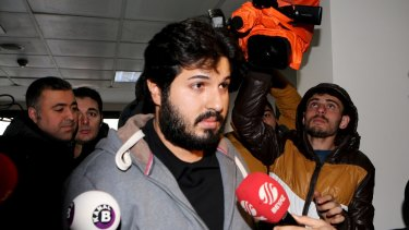 Turkish-Iranian businessman Reza Zarrab in Istanbul in 2013.