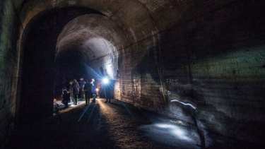 The disused railway tunnels beneath St James Station.