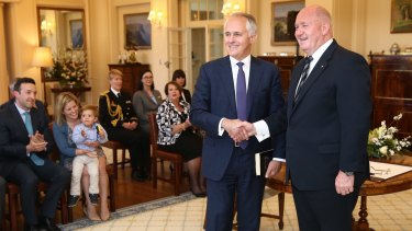 Malcolm Turnbull is sworn in as the 29th Prime Minister of Australia by Governor-General Sir Peter Cosgrove.