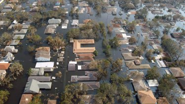 Hurricane Katrina left much of New Orleans under water in 2005. A similar scenario could play out for many of the world's big cities if predicted sea level rises occur.