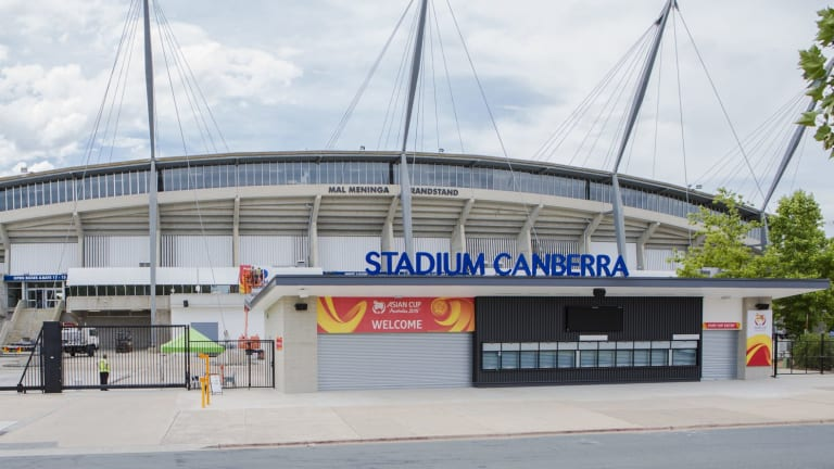 Security is being boosted at Canberra Stadium ahead of the Asian Cup.