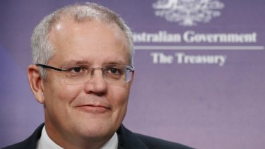 Treasurer Scott Morrison could receive a bonus in the budget.