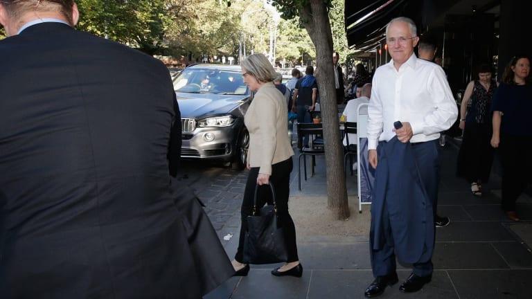 The Prime Minister, Malcolm Turnbull, in Melbourne on Saturday.