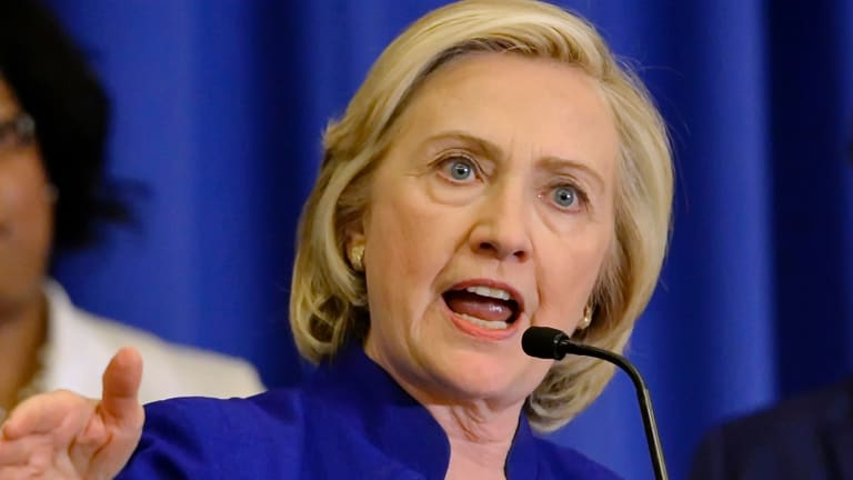 Democratic candidate Hillary Rodham Clinton may gain from the Trump controversies.