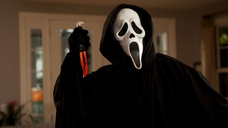 Ghostface from Wes Craven's <i>Scream</i>.