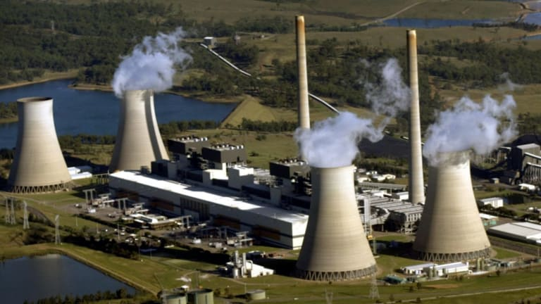 Emissions on the rise in the power sector: Bayswater Power Station in the NSW Hunter Valley.