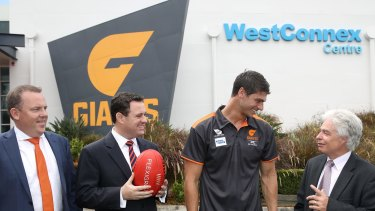 WestConnex was announced as a foundation community partner of the Giants.