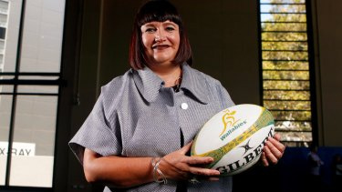 Smashing the ceiling: Raelene Castle has been handed the reins at Rugby Australia.