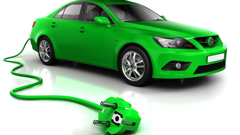 Eco-friendly plug-in car.