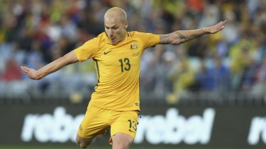 Top man: Aaron Mooy in action for the Socceroos.