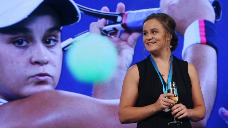 Ashleigh Barty capped her stellar year with the Newcombe Medal.