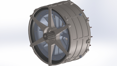 Rendering of a magniX  electric engine.
