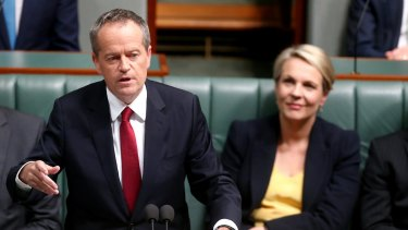 Opposition Leader Bill Shorten delivers his budget reply speech earlier this month.