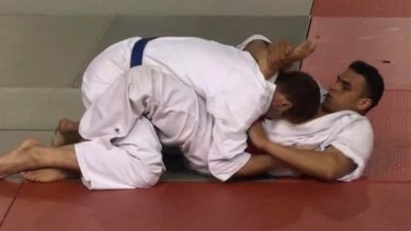Nice attacker in 2010: Mohamed Lahouaiej Bouhlel, right, while competing in a martial arts competition.