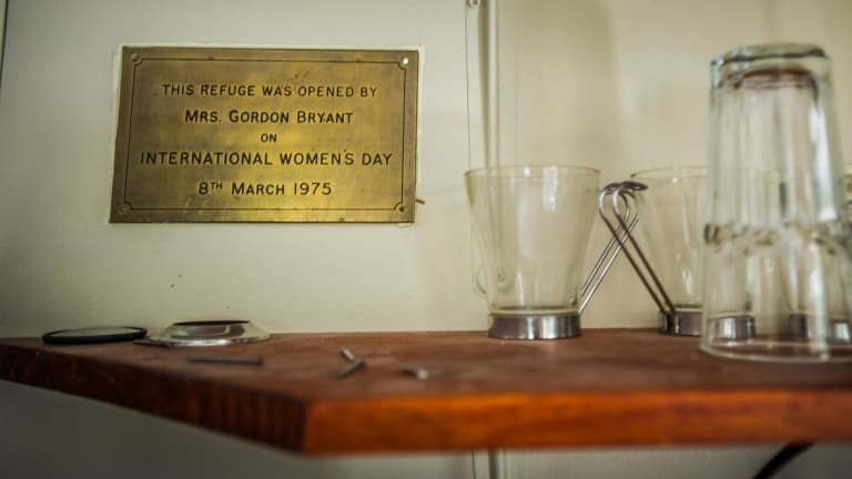 The plague presented at the opening of the Canberra Women's Refuge, as it was previously known, in 1975.